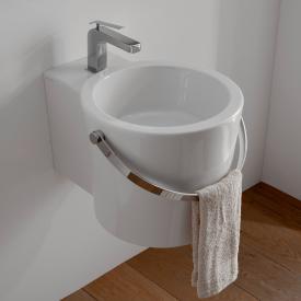 Scarabeo Bucket Aufsatz- oder Hängewaschbecken weiß, mit BIO System Beschichtung