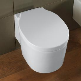 Scarabeo Bucket Wand-Tiefspül-WC mit WC-Sitz, ohne Spülrand weiß, mit BIO System Beschichtung