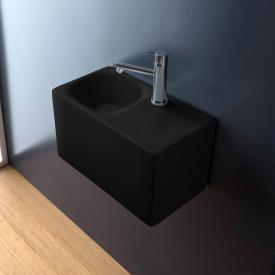 Scarabeo Cube Aufsatz- oder Hängewaschbecken schwarz matt