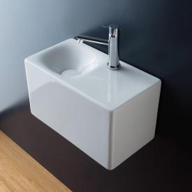 Scarabeo Cube Aufsatz- oder Hängewaschbecken weiß, mit BIO System Beschichtung
