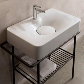 Scarabeo Fuji Aufsatz- oder Hängewaschbecken weiß, mit Hahnloch