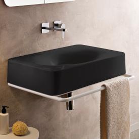 Scarabeo Fuji Aufsatz- oder Hängewaschbecken schwarz, ohne Hahnloch