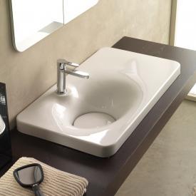 Scarabeo Fuji SHELF SX Einbauwaschbecken weiß
