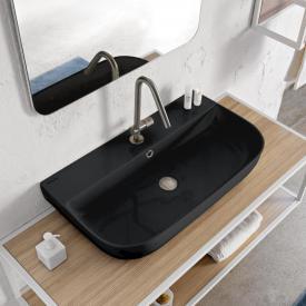Scarabeo Glam Aufsatz- oder Hängewaschbecken schwarz, mit BIO System Beschichtung