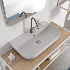 Scarabeo Glam Aufsatz- oder Hängewaschbecken weiß, mit BIO System