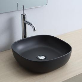 Scarabeo Glam Aufsatzwaschbecken schwarz matt, mit BIO System Beschichtung