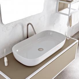 Scarabeo Glam Aufsatzwaschbecken weiß, mit BIO System Beschichtung