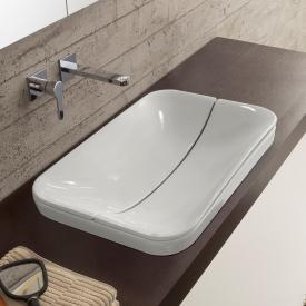 Scarabeo Mizu 70 + Cover Einbauwaschbecken weiß