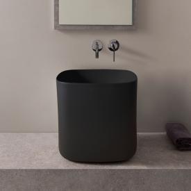Scarabeo Moon Aufsatzwaschbecken schwarz matt