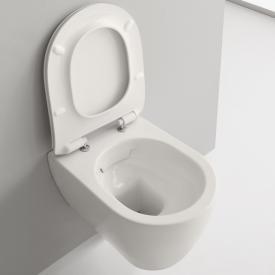 Scarabeo Moon Wand-Tiefspül-WC mit WC-Sitz, ohne Spülrand weiß matt, mit BIO System Beschichtung