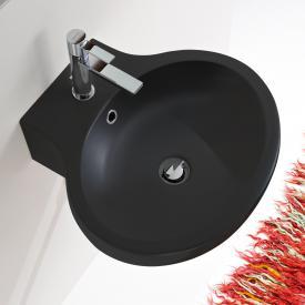 Scarabeo Planet Aufsatz- oder Hängewaschbecken schwarz matt, mit BIO System Beschichtung