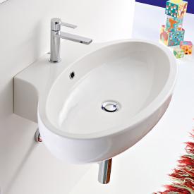 Scarabeo Planet Aufsatz- oder Hängewaschbecken weiß, mit BIO System
