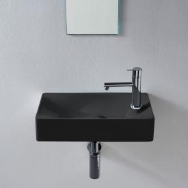 Scarabeo Soft Aufsatz- oder Hängewaschbecken schwarz, mit BIO System Beschichtung