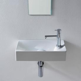 Scarabeo Soft Aufsatz- oder Hängewaschbecken weiß, mit BIO System Beschichtung