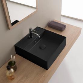 Scarabeo Teorema 2.0 Aufsatz- oder Hängehandwaschbecken schwarz matt, mit BIO System Beschichtung