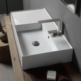 Scarabeo Teorema 2.0 Aufsatz- oder Hängewaschbecken weiß, mit BIO System Beschichtung