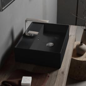 Scarabeo Teorema 2.0 Aufsatzhandwaschbecken schwarz, mit BIO System Beschichtung