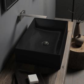 Scarabeo Teorema 2.0 Aufsatzwaschbecken schwarz, mit BIO System Beschichtung