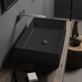 Scarabeo Teorema 2.0 Aufsatzwaschbecken schwarz matt, mit BIO System Beschichtung
