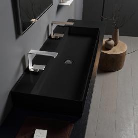 Scarabeo Teorema 2.0 Doppel-Aufsatz- oder Hängewaschtisch schwarz, mit BIO System Beschichtung