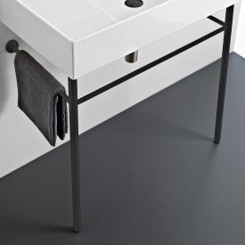 Scarabeo Teorema 2.0 Metallkonsole zu Waschbecken schwarz matt, zu Waschtisch 5105