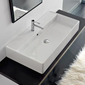 Scarabeo Teorema R Aufsatz- oder Hängewaschbecken weiß, mit BIO System Beschichtung