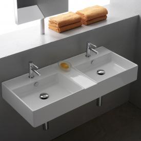 Scarabeo Teorema R Doppel-Aufsatz- oder Hängewaschbecken weiß, mit BIO System Beschichtung
