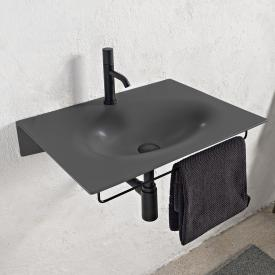 Scarabeo Veil Waschtisch schwarz matt, mit BIO System Beschichtung