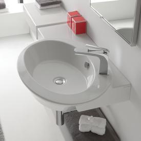 Scarabeo Wish Aufsatz- oder Hängehandwaschbecken weiß, mit BIO System Beschichtung