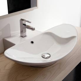 Scarabeo Zefiro R Shelf Aufsatz- oder Hängewaschbecken weiß, mit BIO System Beschichtung