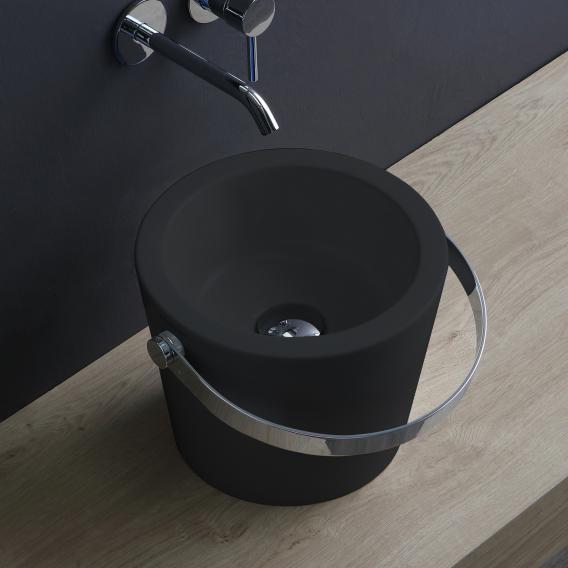 Scarabeo Bucket Aufsatzwaschbecken schwarz matt, mit BIO System Beschichtung