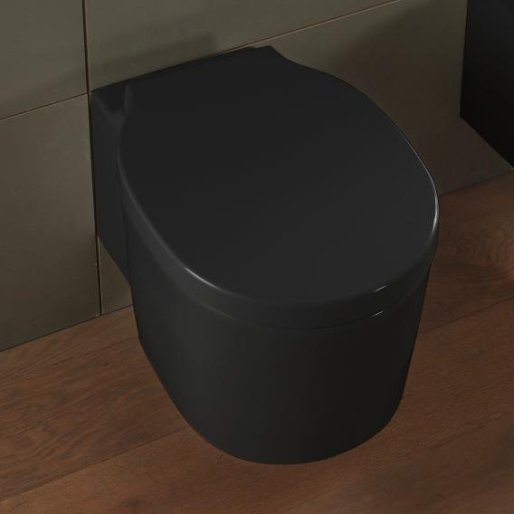Scarabeo Bucket Wand-Tiefspül-WC ohne Spülrand, schwarz