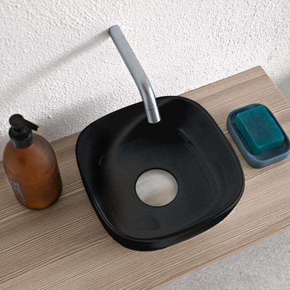Scarabeo Glam Aufsatzwaschbecken schwarz, mit BIO System Beschichtung