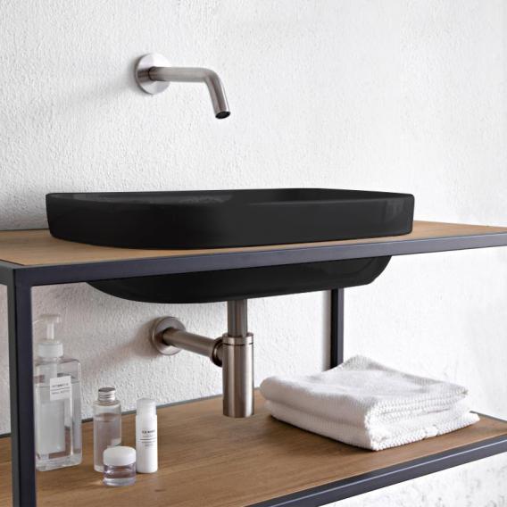 Scarabeo Glam Einbauwaschbecken schwarz, mit BIO System Beschichtung