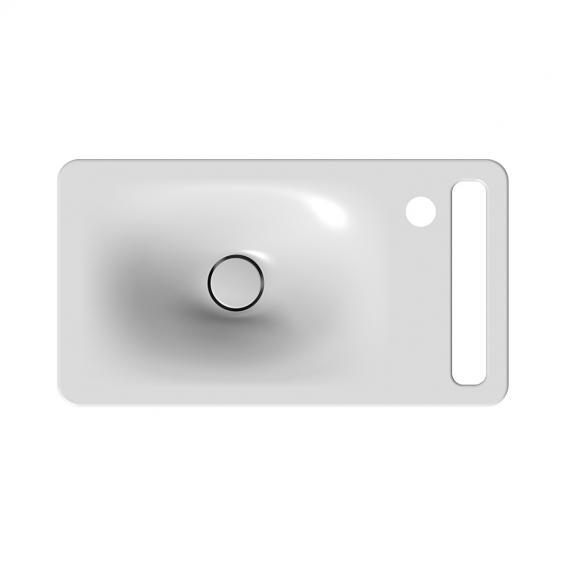 Scarabeo Hung Hängewaschbecken schwarz matt, mit BIO System Beschichtung