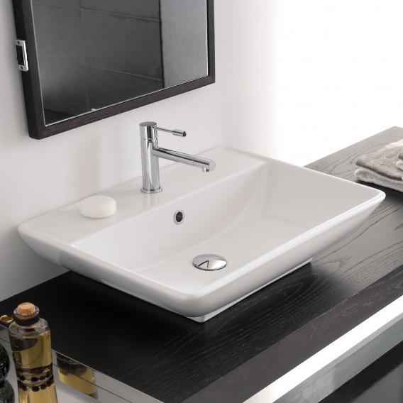 Scarabeo Kylis R Aufsatz- oder Hängewaschbecken weiß, mit BIO System Beschichtung