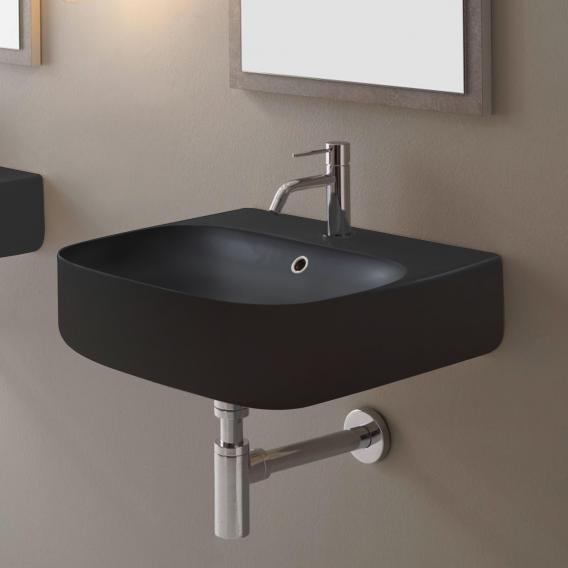 Scarabeo Moon Aufsatz- oder Hängewaschbecken schwarz matt, mit BIO System Beschichtung