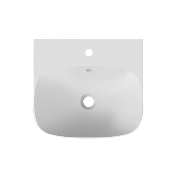 Scarabeo Moon Aufsatz- oder Hängewaschbecken weiß, mit BIO System Beschichtung