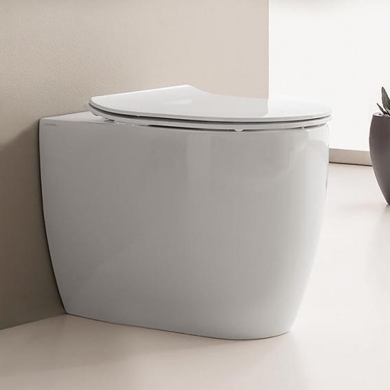 Scarabeo Moon Stand-Tiefspül-WC ohne Spülrand, weiß, mit BIO System Beschichtung