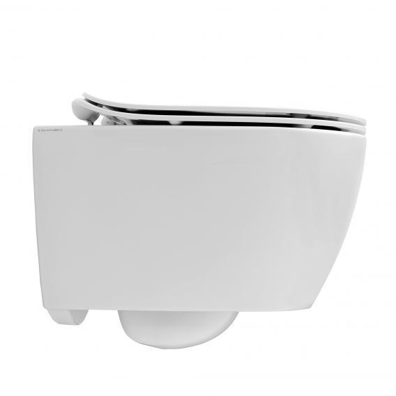 Scarabeo Moon Wand-Tiefspül-WC ohne Spülrand, schwarz, mit BIO System Beschichtung