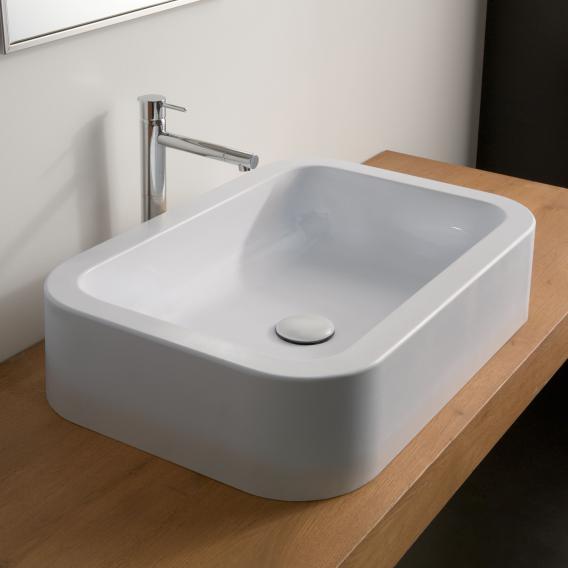 Scarabeo Next Aufsatzwaschbecken weiß, mit BIO System Beschichtung