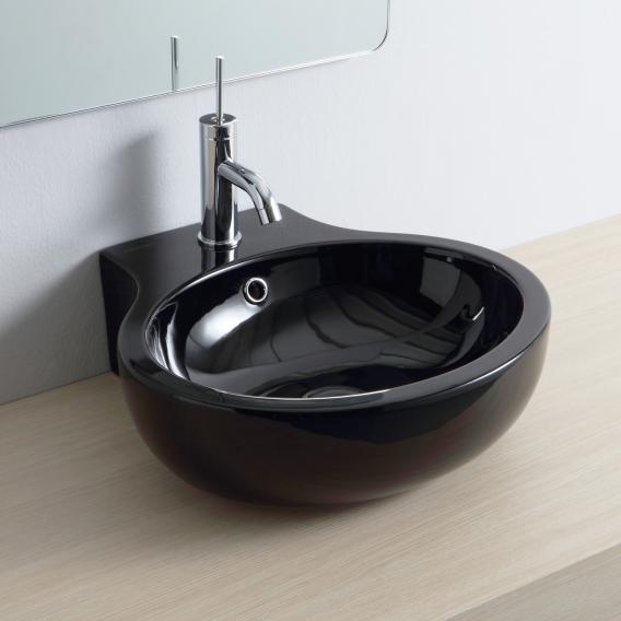 Scarabeo Planet Aufsatz- oder Hängewaschbecken schwarz, mit BIO System Beschichtung