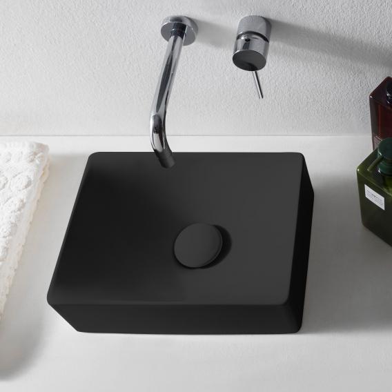 Scarabeo Soft Aufsatzwaschbecken schwarz matt, mit BIO System Beschichtung
