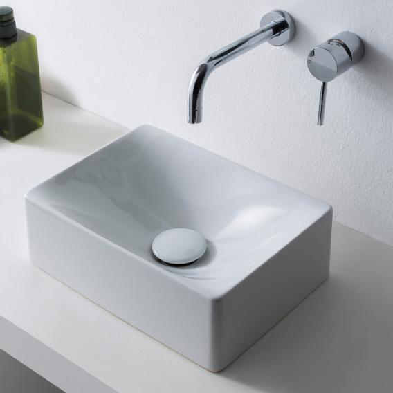 Scarabeo Soft Aufsatzwaschbecken weiß, mit BIO System Beschichtung
