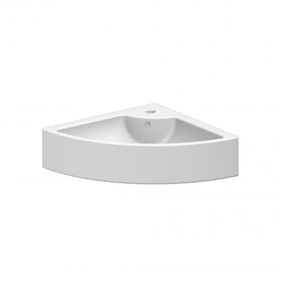 Scarabeo Square E Eck-Aufsatz- oder Hängewaschbecken weiß, mit BIO System Beschichtung