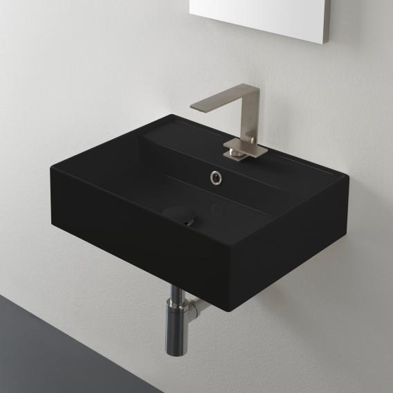 Scarabeo Teorema 2.0 Aufsatz- oder Hängehandwaschbecken schwarz, mit BIO System Beschichtung