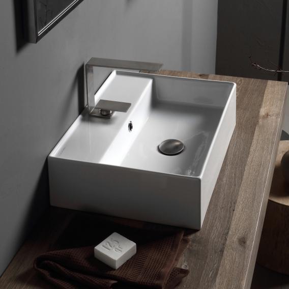 Scarabeo Teorema 2.0 Aufsatz- oder Hängehandwaschbecken weiß, mit BIO System Beschichtung