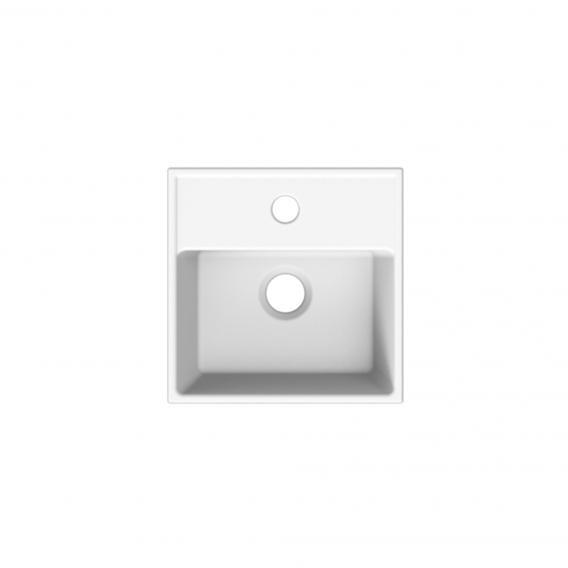 Scarabeo Teorema R Aufsatz- oder Hängehandwaschbecken weiß, mit BIO System Beschichtung, ohne Überlauf