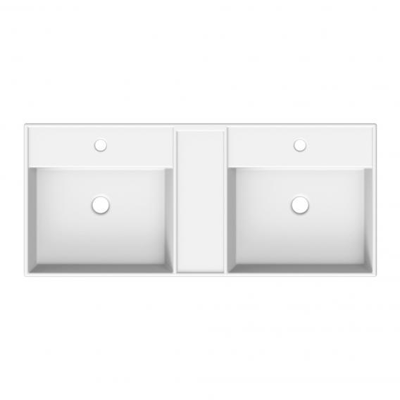 Scarabeo Teorema R Doppel-Aufsatz- oder Hängewaschbecken weiß