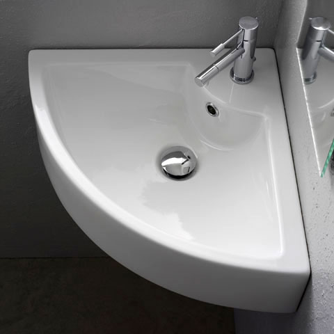 Waschplatz in Bad & Gäste-WC einrichten bei REUTER   {Eckwaschbecken mit unterschrank 86}